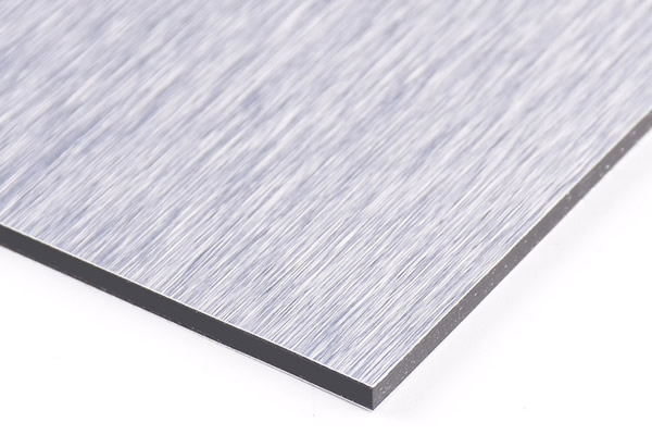 Brushed Silver Aluminum Composite Panel