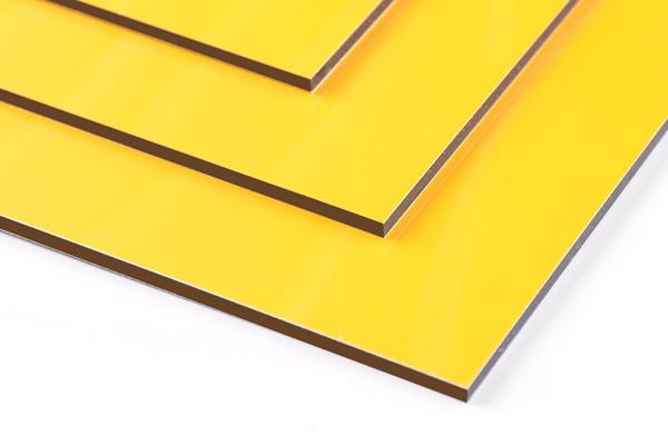 SJ-8831 Glossy Yellow Aluminum Composite Panel