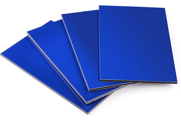SJ-8832 Glossy Blue Aluminum Composite Panel