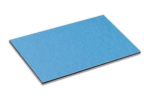 Brushed Blue Aluminum Composite Panel